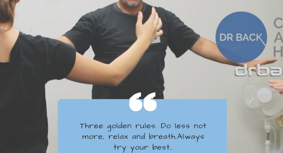 Do less, relax, breath.